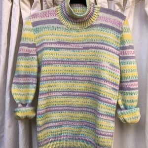 80s Pastel Knit Easter Sweater